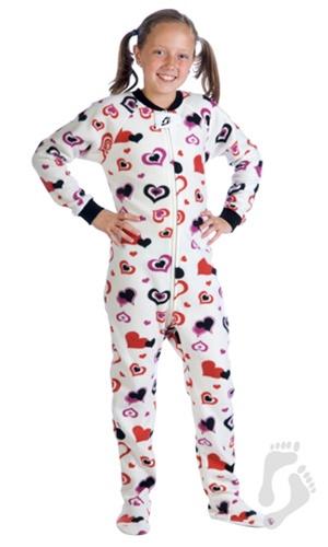 Footed Pajamas® - Lots of Luv Kids Fleece Footed Pjs