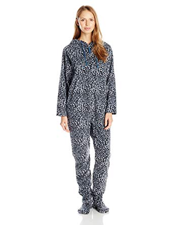 Amazon.com: Casual Moments Women's One-Piece Footed Pajama: Clothing