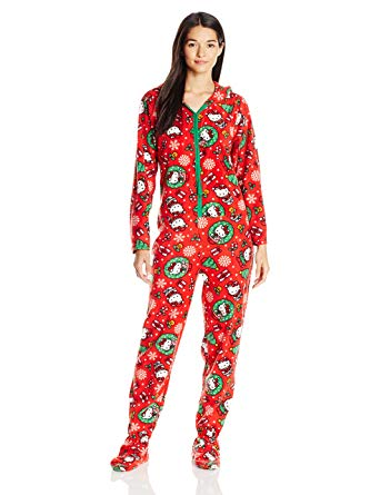 Amazon.com: Hello Kitty Women's Ugly Holiday Footed Pajamas with