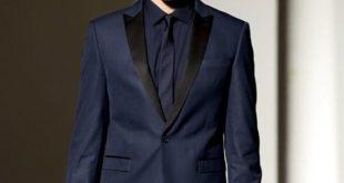 2017 Men Formal Suits Fashion Blue Navy Business Suit Men Wedding