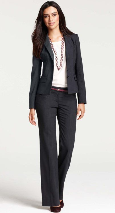 well-accessorized suit x Ann Taylor   Skirt the Ceiling