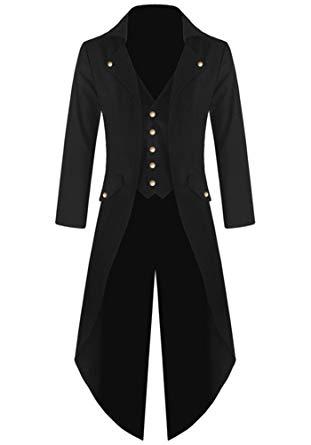 Amazon.com: Ruanyu Men's Steampunk Vintage Tailcoat Jacket Gothic