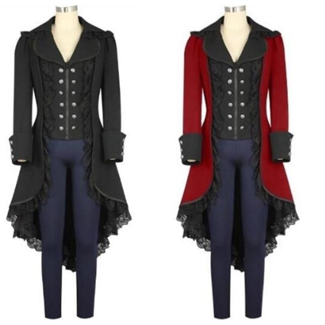 Women's Outwear Steampunk Vintage Tailcoat winter military Jacket