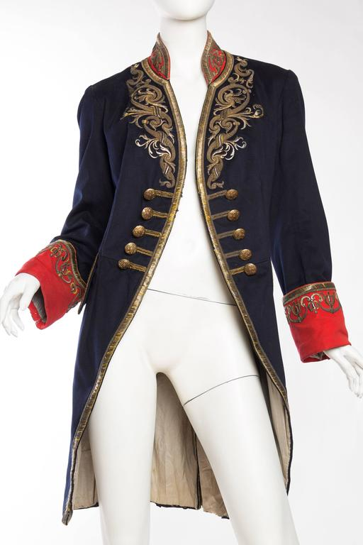 Victorian Livery Frock Coat with Antique Gold Embroidery at 1stdibs