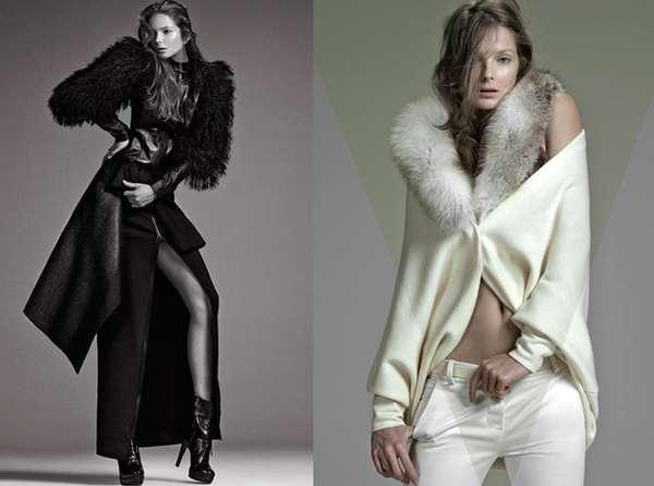 Skin-Baring Fur Fashion : ELLE Brazil 'Fall in Love'