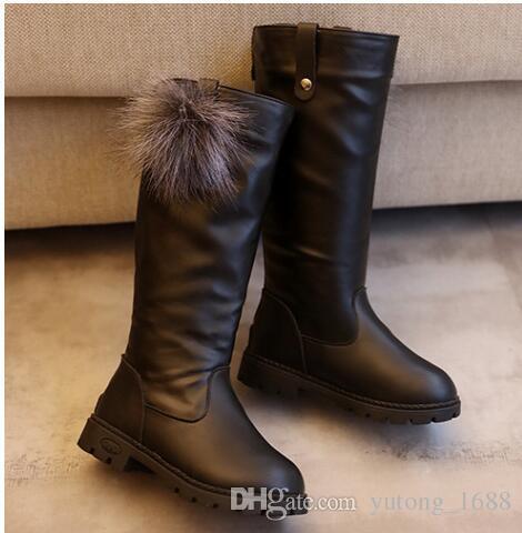 2018 Winter Girls Boots Kids Sonw Boots Children Winter Shoes Warm