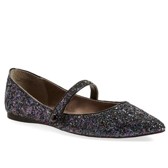 bp Shoes | Maribel Mary Jane Glitter Flats | Poshmark