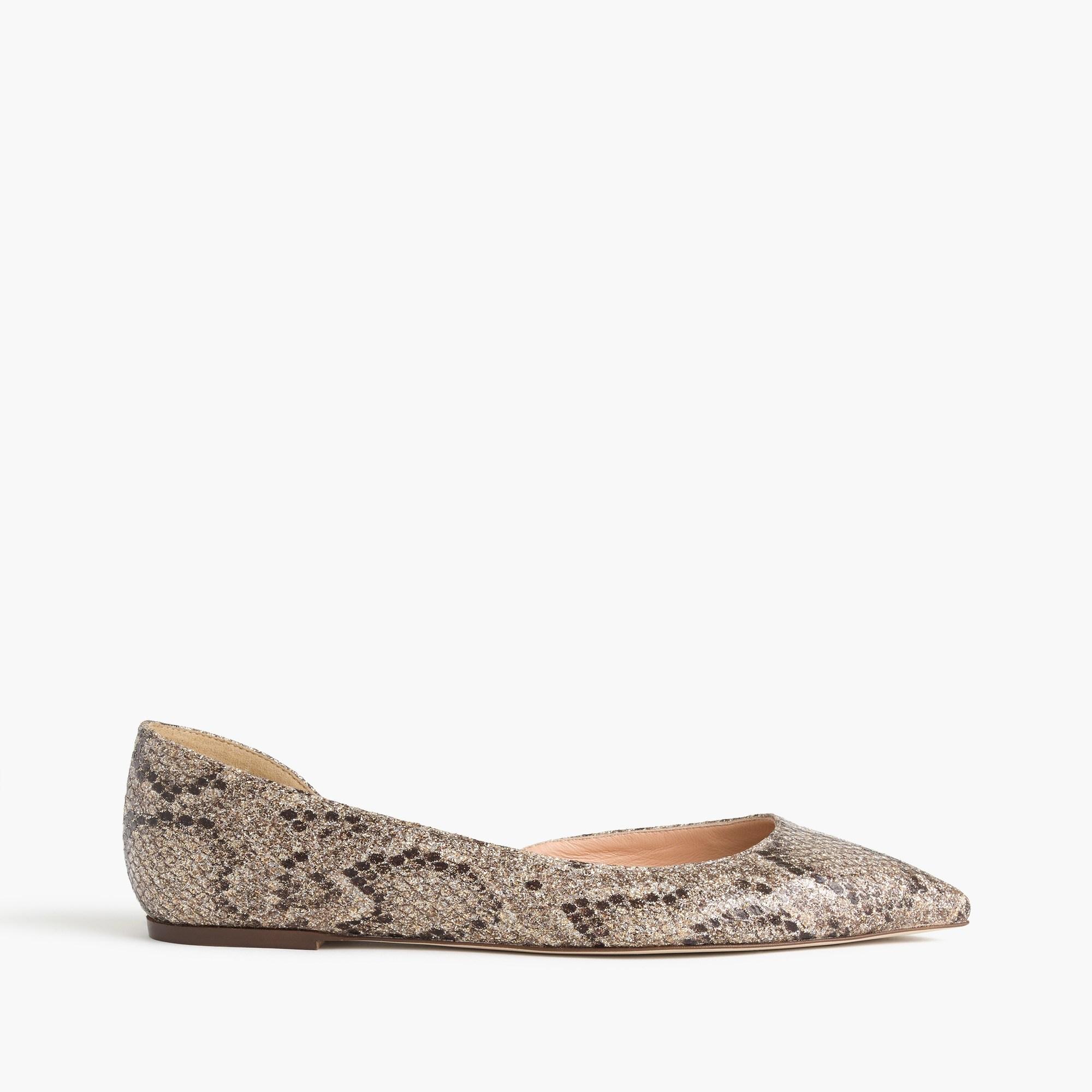 Audrey glitter flats : Women shoes | J.Crew