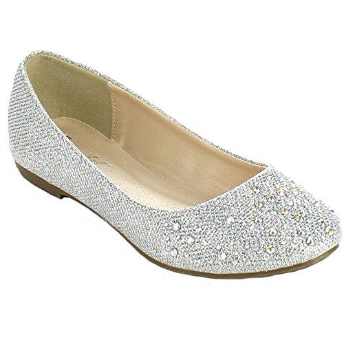 Amazon.com | Bonnibel Great-5 Womens Round Toe Sparkling Glitter