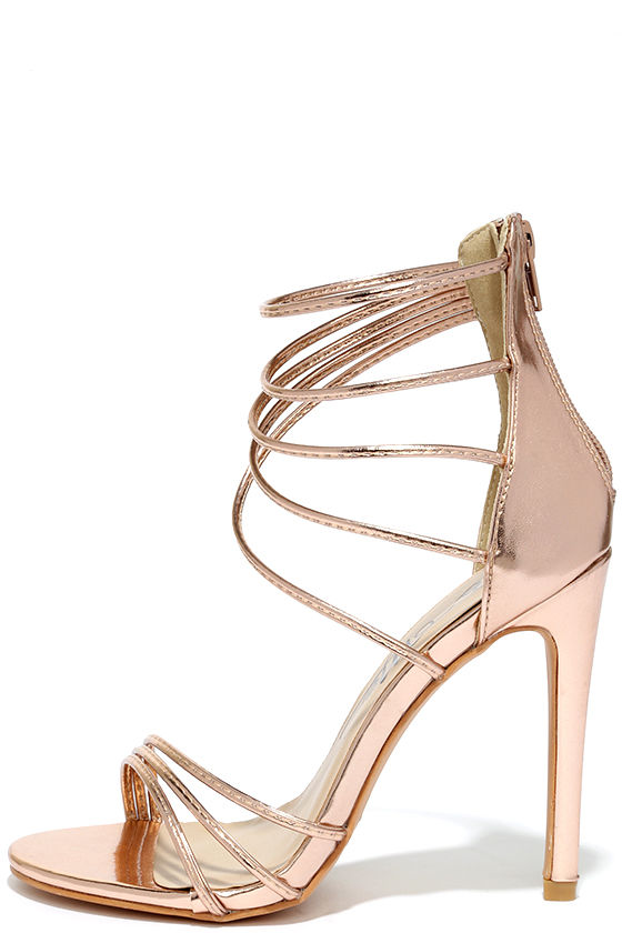Go elegant with gold high heels with extra comfort