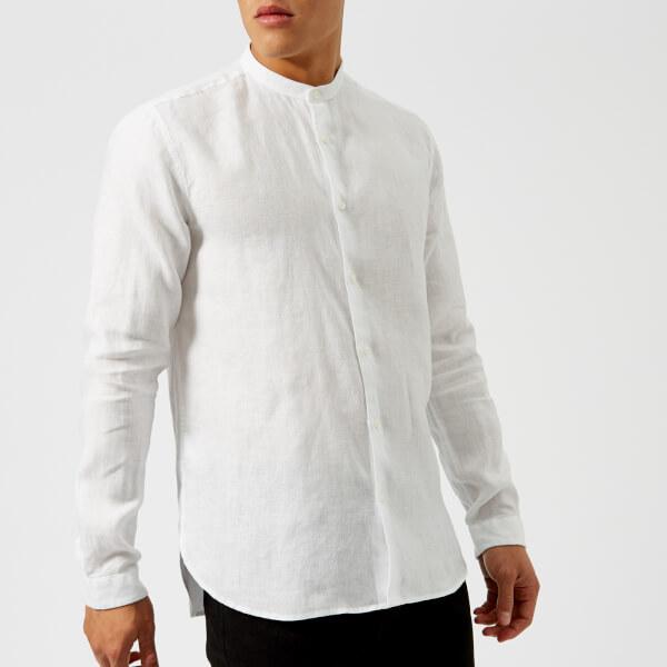 HUGO Men's Eddison Grandad Shirt - White Mens Clothing   TheHut.com