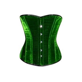 Halbbrust Green Velvet Corset