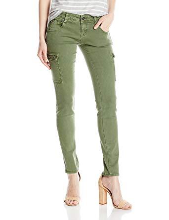 Grace in LA Women's Olive Green Cargo Skinny at Amazon Women's Jeans