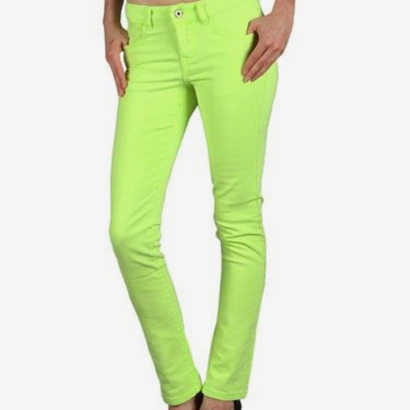jcpenney Jeans   Lime Green Skinny Size 286   Poshmark