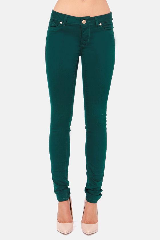 Cute Emerald Green Jeans - Skinny Jeans - Dark Green Jeans - $51.00