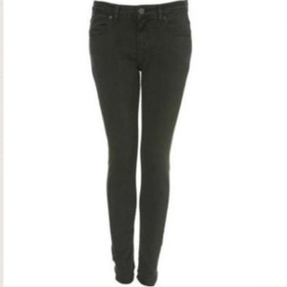 Topshop Jeans   Skinny Dark Green   Poshmark