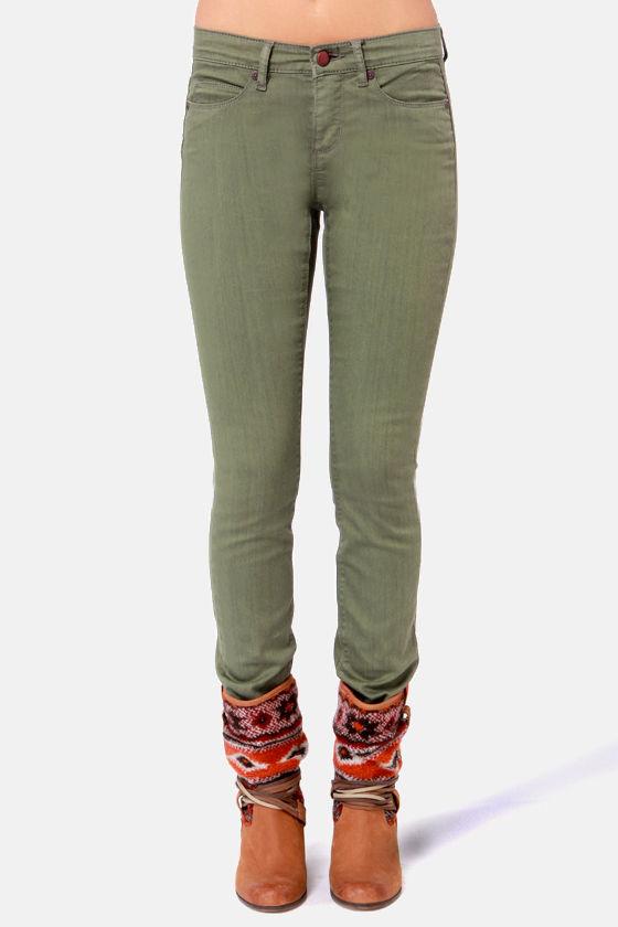 Obey Lean & Mean Jeans - Olive Green Jeans - Skinny Jeans -$74.00