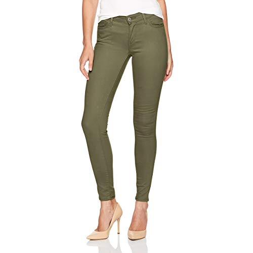 Go stylish with green skinny jeans with multiple brands