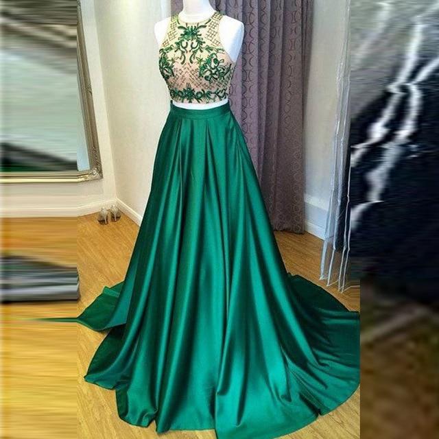 Formal Style Green Skirts Women Personalized Zipper Waistline A Line