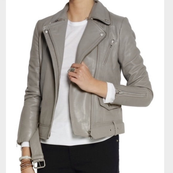 Get the best style with grey   leather jackets