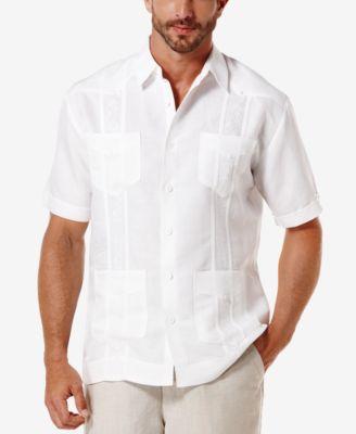Cubavera Short-Sleeve Embroidered Guayabera Shirt - Casual Button
