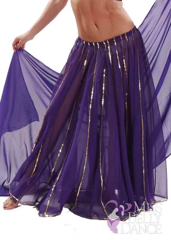 Bellydancing Chiffon 10-Yards Full Circular Gypsy Skirt