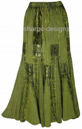 gypsy skirts, tie dye skirts, gothic hippy skirts
