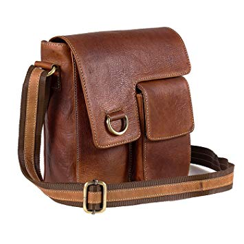 Amazon.com: TUZECH Pure Leather Modern Styled Faded Handy Messenger