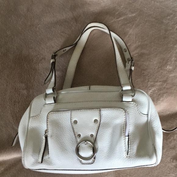 Talbots Bags | White Leather Satchel Bag | Poshmark