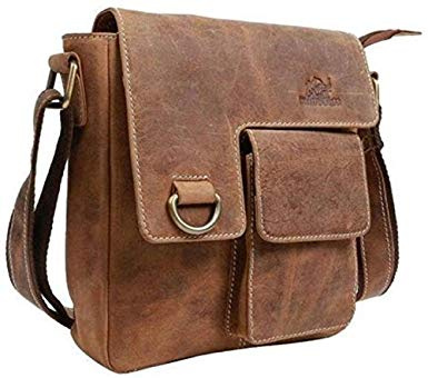 Amazon.com: TUZECH Pure Leather bag Modern Styled Faded Handy