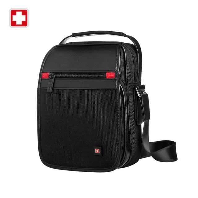 Swisswin messenger Shoulder Bag 11' black bag for Ipad handy