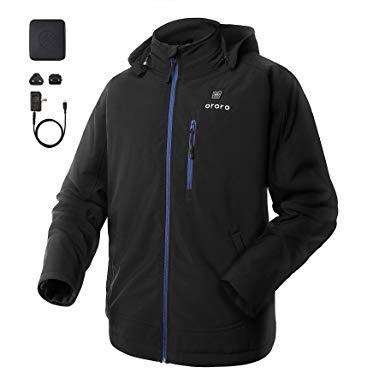 Amazon.com: ororo Men's Soft Shell Heated Jacket with Detachable
