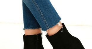 Stylish Black Suede Boots - Fitted Black Booties - Heeled Boots