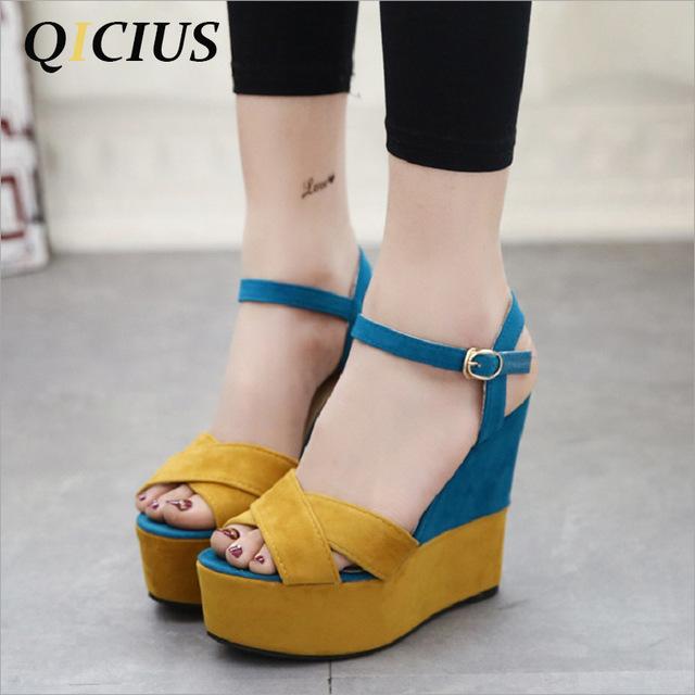QICIUS 12CM 2018 New Sexy High Heels Sandals Women Shoes Pumps