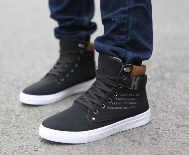 Mens Fashion Spring Autumn Leather Shoes Street Men's Casual Fashion