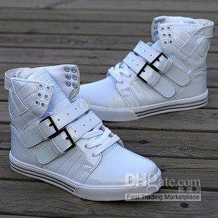 Mens Martin Boots Fashion Sneakers High Top Shoes Red White Black UK