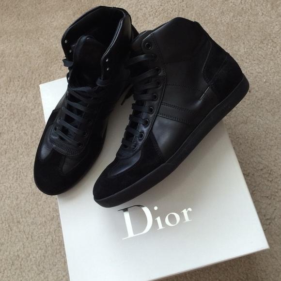 Christian Dior Shoes | Men High Top Sneakers | Poshmark