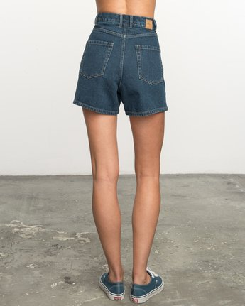 No Age High-Waisted Denim Shorts WL201NOA | RVCA