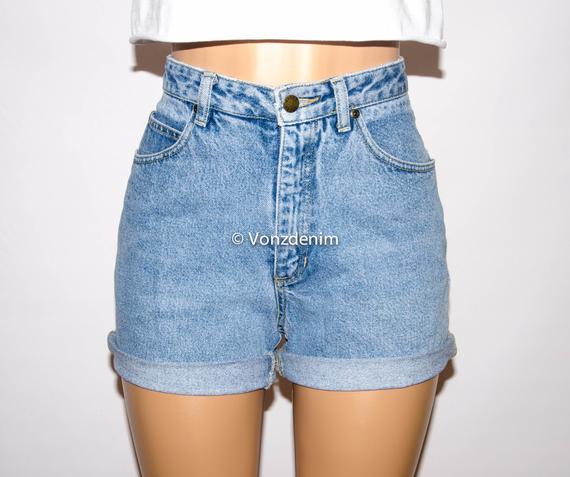 Vintage High Waisted Denim Shorts Cuffed or Un-Cuffed Shorts | Etsy