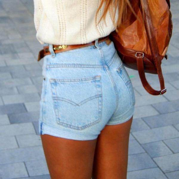 Summer Women New High Waist Denim Shorts from Pepper Berry   Tops