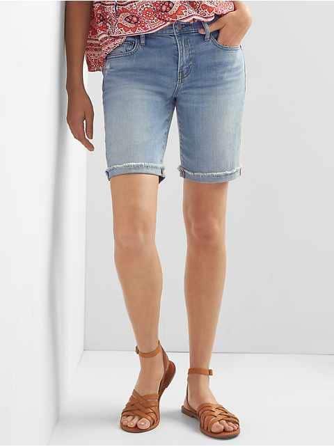 Women's High Waisted Denim Shorts   Gap