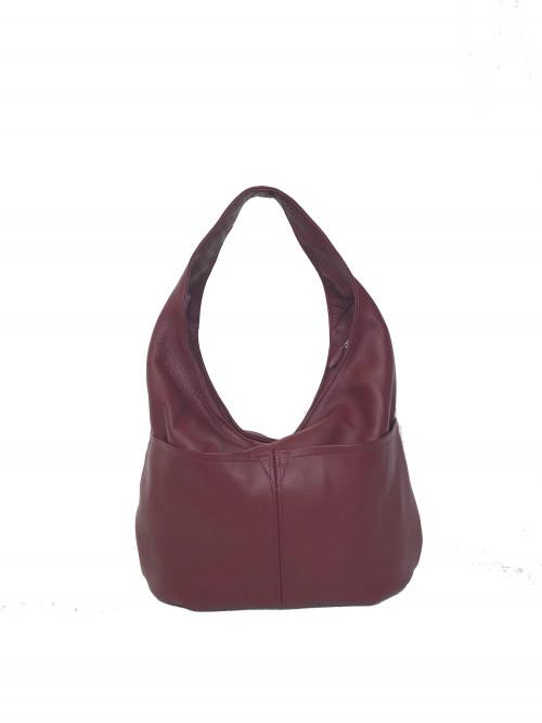 Slouchy Leather Hobo Bag w Pockets, Hobo Purses, Women Handbags, Aly