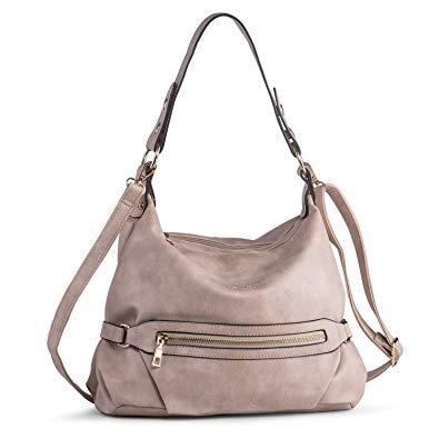 Amazon.com: Shoulder Purse for Women PU Leather Hobo Handbag Top