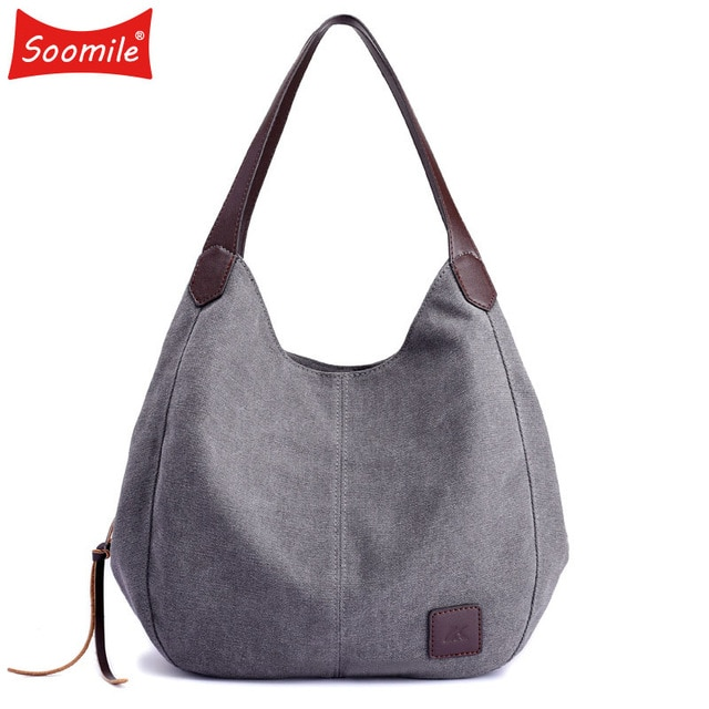 Soomile Jean Handbags 2018 brand Women Bag Big Hobo Purses Large