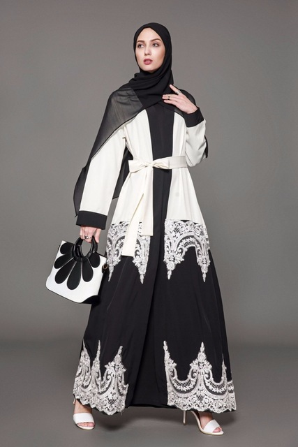 2018 Plus Size 5XL Arab Elegant Abaya Kaftan Islamic Fashion Muslim