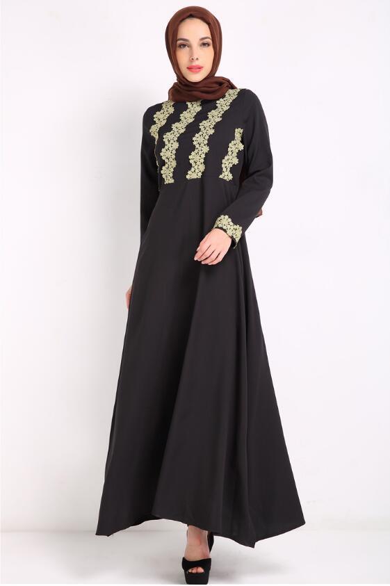 Malaysia Lady Abaya Clothes Turkey Muslim Fashion Women Embroidery