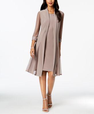 R & M Richards Embellished Dress & Duster Jacket - Dresses - Women