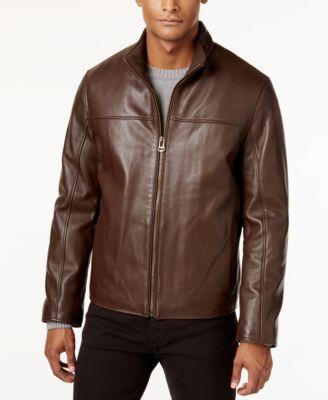 Cole Haan Men's Leather Jacket - Coats & Jackets - Men - Macy's