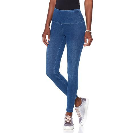 LYSSE Smoothing Waist Stretch Denim Legging - Plus - 8279508 | HSN