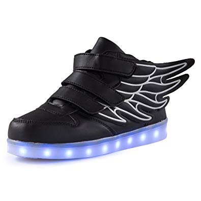Amazon.com | Qkettle Kids High Top Wing LED Lights Up Sneakers Boys